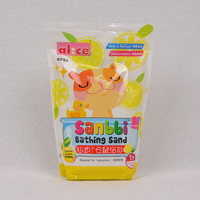 ALICE Sanbbi Bath Sand 1kg Small Animal Sanitasi Alice Lemon
