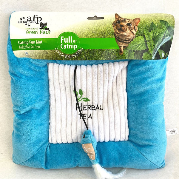ALLFORPAWS Catnip Fun Mat Pet Bed AFP Blue