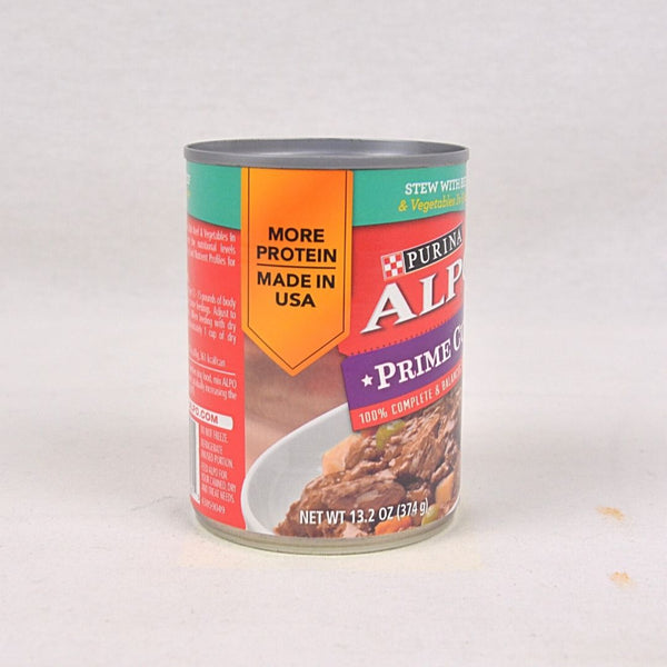 ALPO Prime Cuts Beef Stew Can 369gr Dog Food Wet Purina