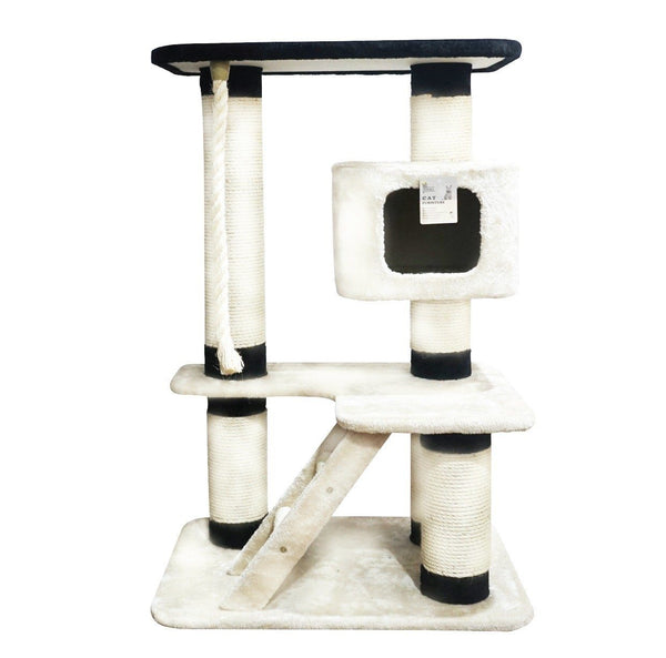 ARTHACAT ATS0339 Cat Tree KATZE Cat House and Tree Artha Cat Tirta Surya Black