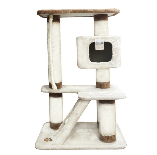 ARTHACAT ATS0339 Cat Tree KATZE Cat House and Tree Artha Cat Tirta Surya Brown