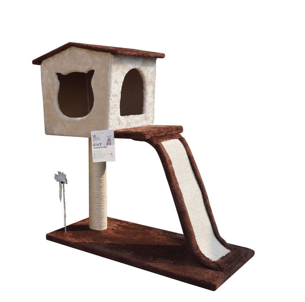 ARTHACAT Cat Tree KATE Cat House and Tree Artha Cat Tirta Surya Brown