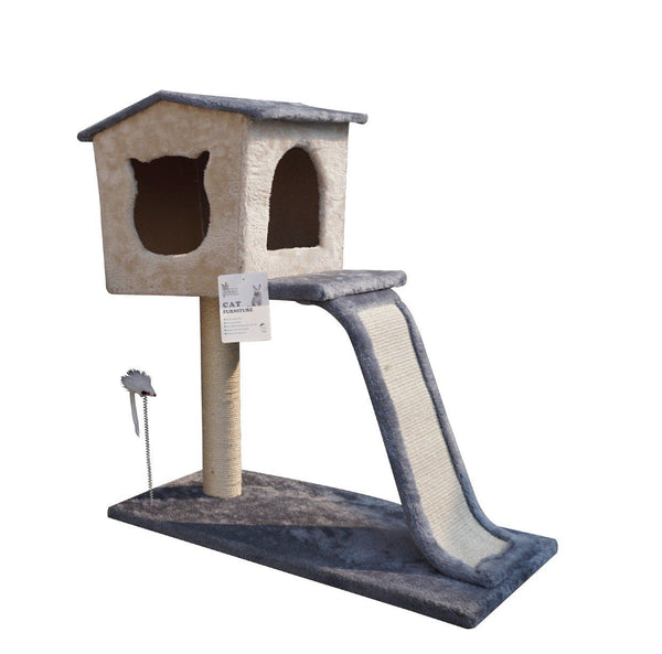 ARTHACAT Cat Tree KATE Cat House and Tree Artha Cat Tirta Surya Grey