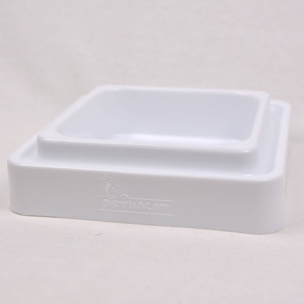ARTHACAT Single Bowl Pet Bowl Artha Cat Tirta Surya White
