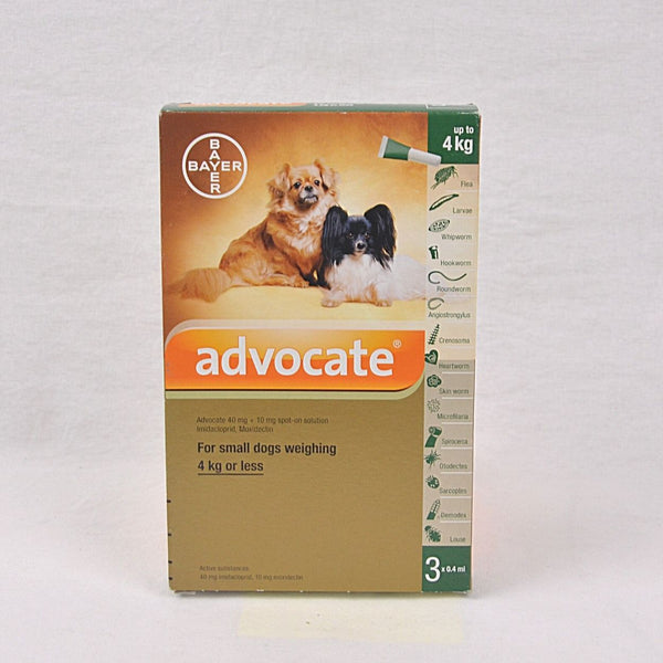BAYER Advocate SMALL Dog Up to 4kg 1pcs Grooming Medicated Care Bayer