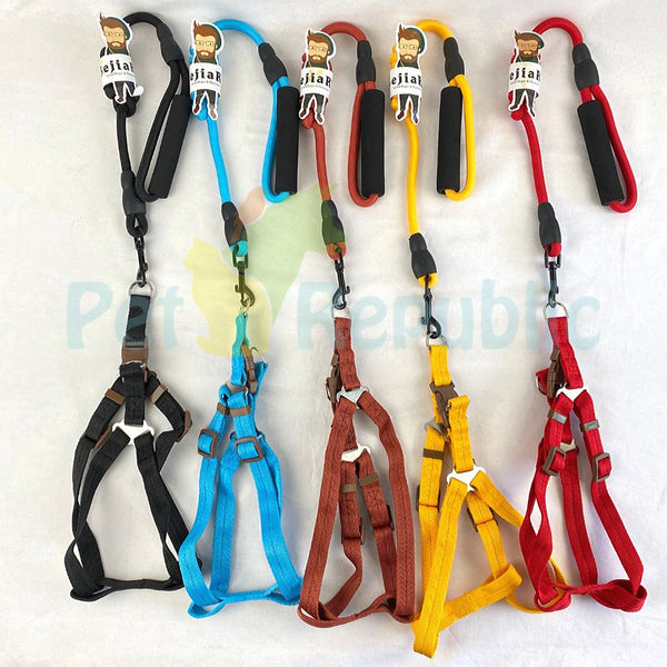 BEJIARY CP13 Rope Harness Pet Collar and Leash Bejiary