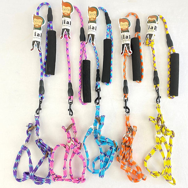 BEJIARY CP14 Rope and Harness Pet Collar and Leash Bejiary