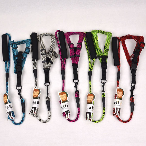 BEJIARY CP17 Stream Neon Rope Harness Pet Collar and Leash Bejiary