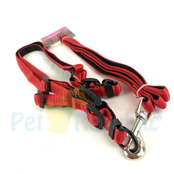 BEJIARY CP26M Nylon Leash and V Puffy Harness Medium - Pet Republic Jakarta