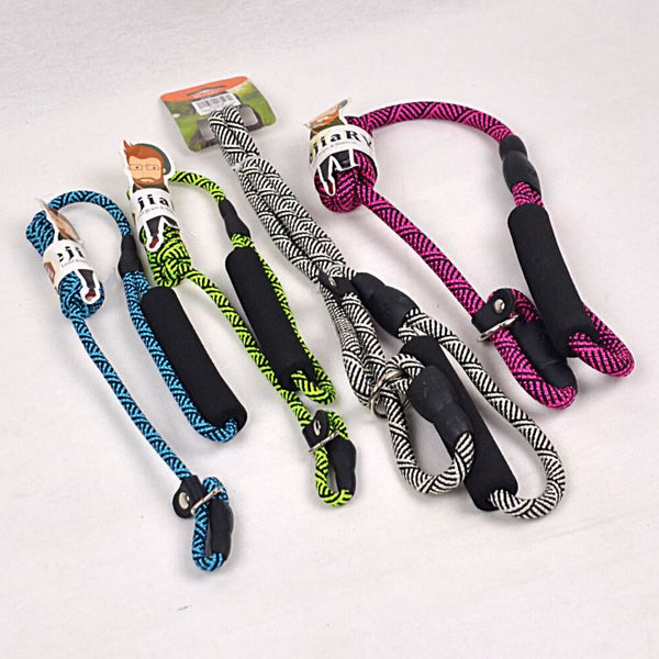 BEJIARY CP58 Neon Rope Slip Collar & Leash Pet Collar and Leash Bejiary