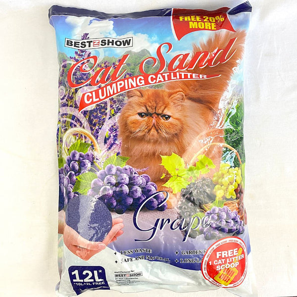 BESTINSHOW Cat Sand 12L Cat Sanitation Best In Show Grape