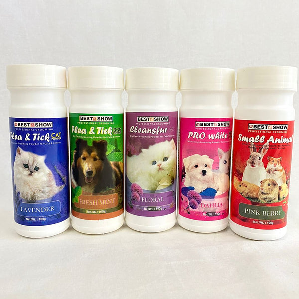 BESTINSHOW Dry Clean Powder Cleansfur Floral 100gr Grooming Pet Care Best In Show