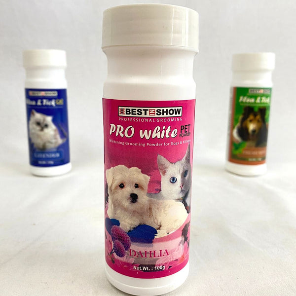 BESTINSHOW Dry Clean Powder Pro White Dahlia 100g Grooming Pet Care Best In Show