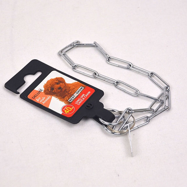 BESTINSHOW Long Link Chock Chain Pet Collar and Leash Best In Show 2mmx40cm