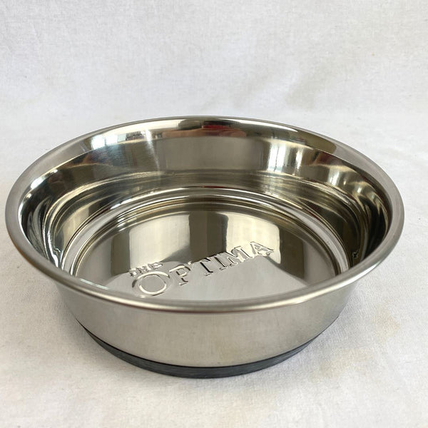 BESTINSHOW Steel Heavy Dish Embosses OPTIMA 17cm Pet Bowl Best in show