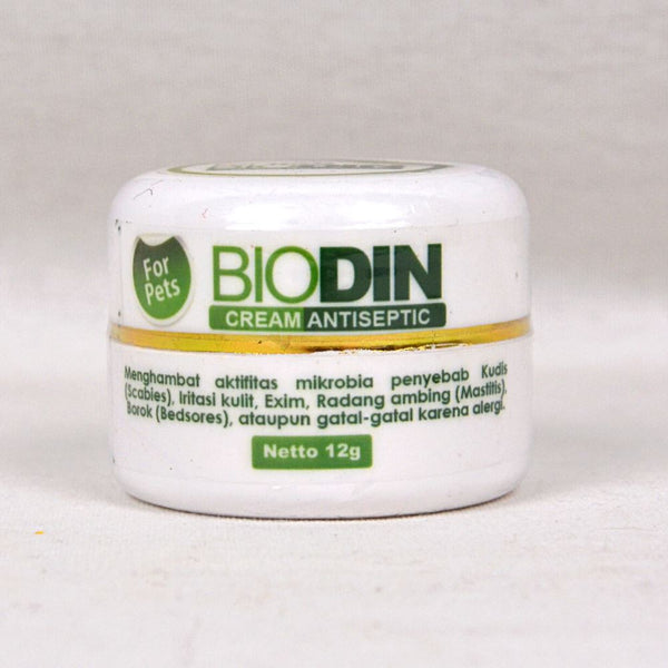 BIODIN Cream Antiseptic 12g Pet Medicated Care Biodin