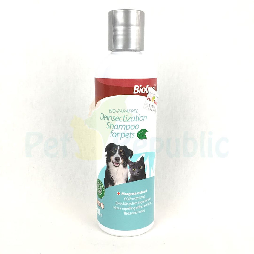 BIOLINE Anti Parasit Shampoo With Margosa 200ml - Pet Republic Jakarta