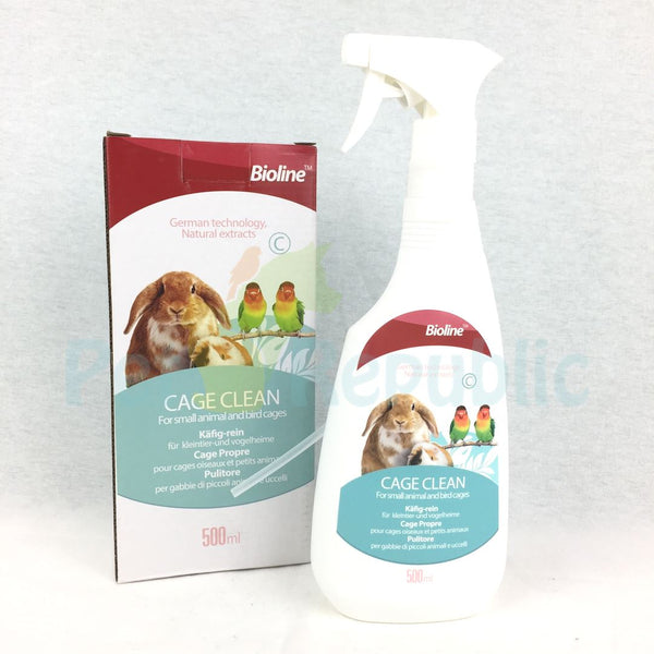 BIOLINE Cage Clean Spray 500ml - Pet Republic Jakarta