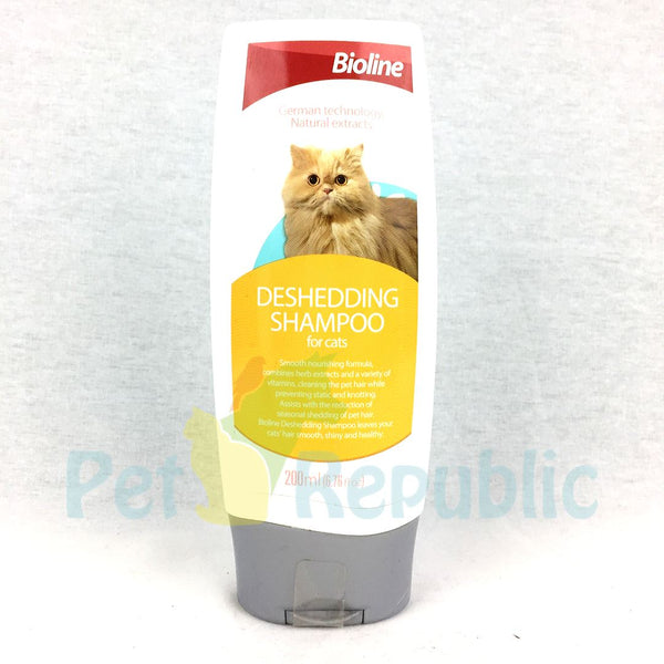 BIOLINE Cat Shampoo Deshedding 200ml - Pet Republic Jakarta