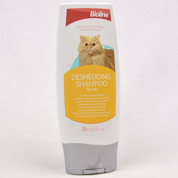BIOLINE Cat Shampoo Deshedding 200ml Grooming Shampoo and Conditioner Bioline