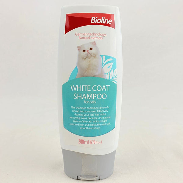 BIOLINE Cat Shampoo For White Coat 200ml Grooming Shampoo and Conditioner Bioline