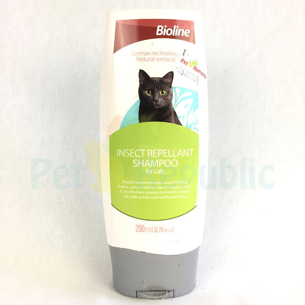 BIOLINE Cat Shampoo Insect Repellant 200ml - Pet Republic Jakarta