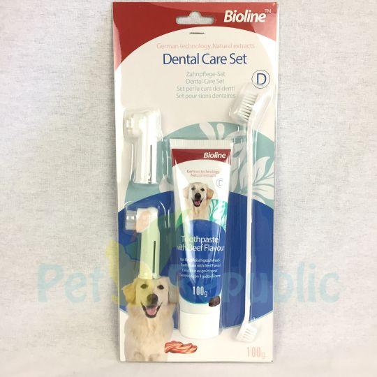 BIOLINE Dental Hygiene Set Beef Flavour - Pet Republic Jakarta