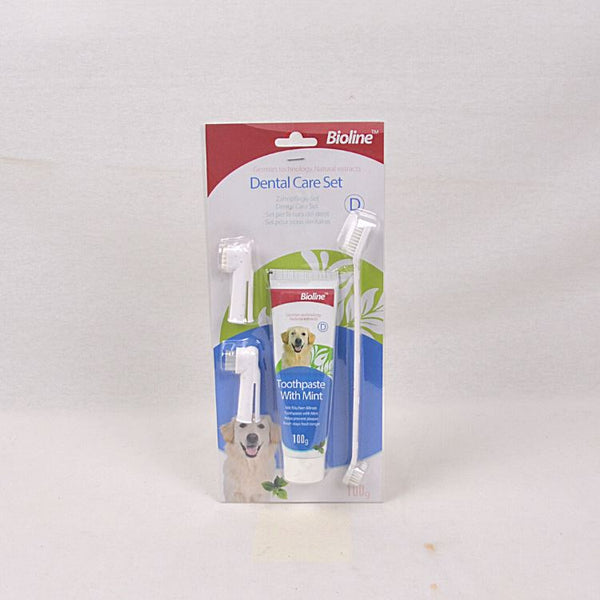 BIOLINE Dental Hygiene Set Mint Flavour Grooming Pet Care Bioline