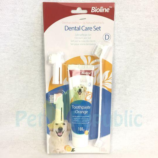 BIOLINE Dental Hygiene Set Orange Flavour - Pet Republic Jakarta