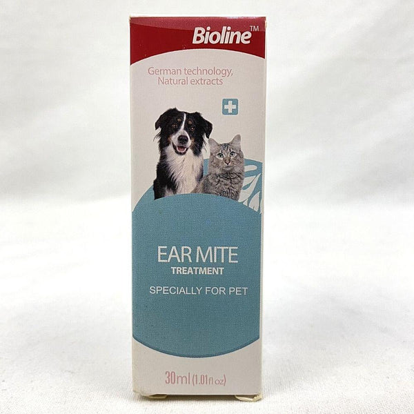 BIOLINE Ear mite Oil For Cat 30ml Grooming Pet Care Bioline