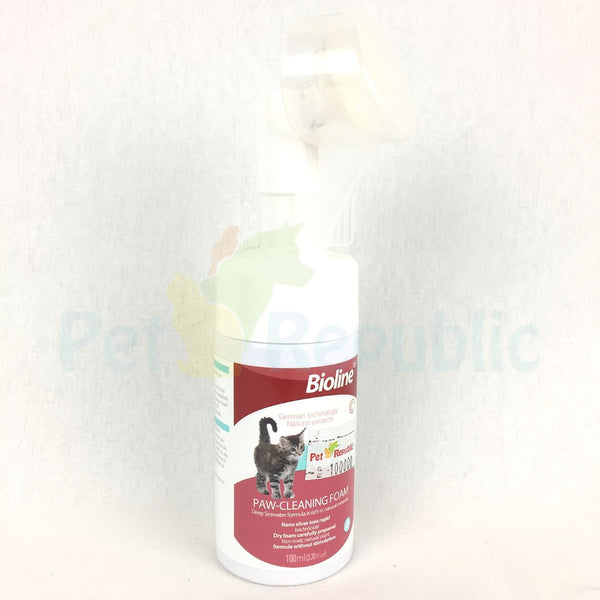 BIOLINE Paw Cleaning Foam For Cat 100ml - Pet Republic Jakarta