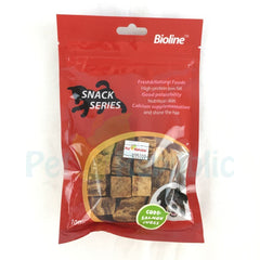 BIOLINE Snack Dog Cod & Salmon Cubes 100gr - Pet Republic Jakarta