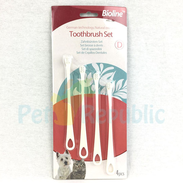 BIOLINE Toothbrush Set For Puppy & Cat - Pet Republic Jakarta