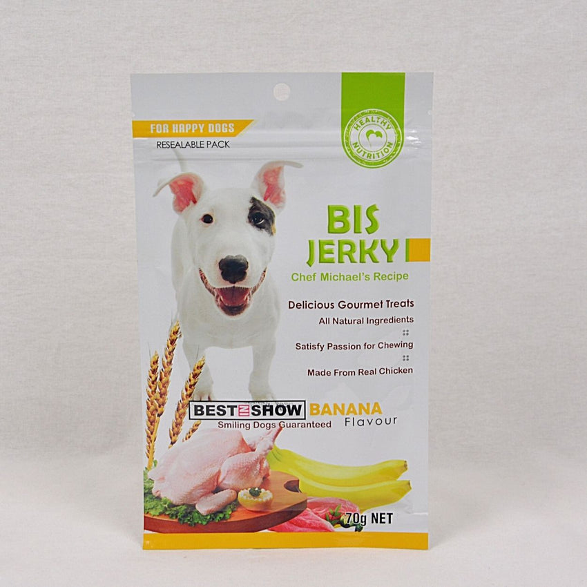 BISJerky Banana 70gr Dog Snack Best In Show