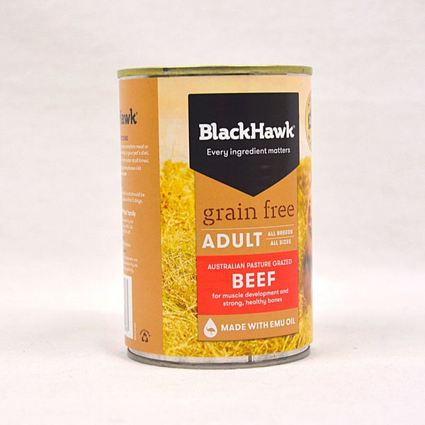 BLACKHAWK Grain Free BEEF Canned Food 400gr Dog Food Wet Blackhawk