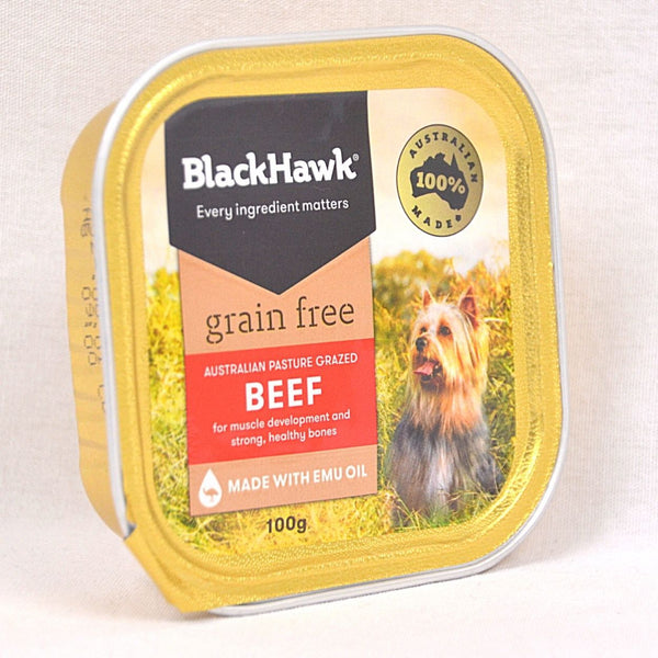 BLACKHAWK Grain free Beef Tray 100gr Dog Food Wet Blackhawk