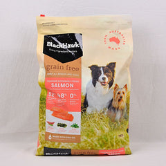 BLACKHAWK Grain Free Salmon 7kg Dog Food Dry Blackhawk