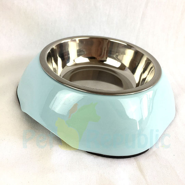 BOBO BO3134(A5) Melamin Pet Bowl Small Round - Pet Republic Jakarta