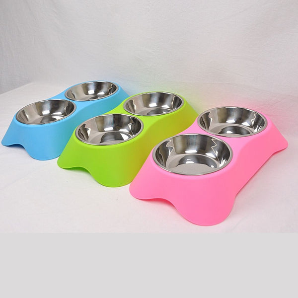 BOBO Y009PL Duo Plastic Bowl 35x20x6.8cm Pet Bowl Bobo