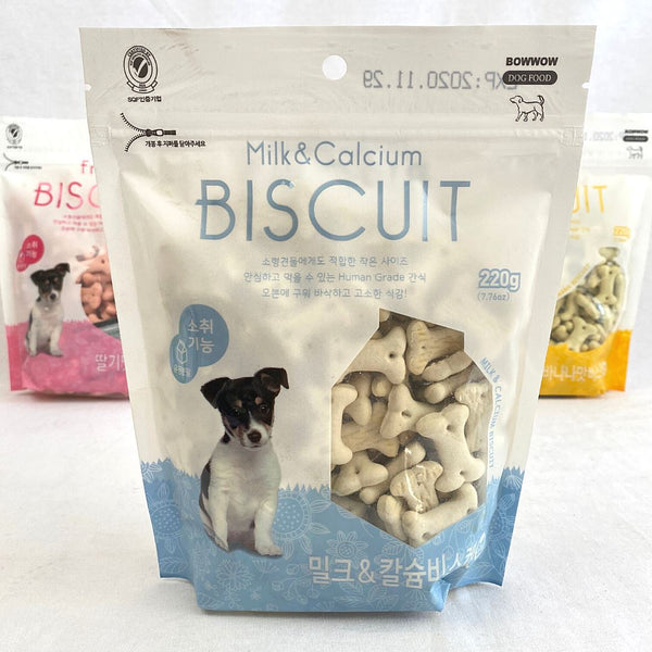 BOWWOW Milk And Calcium Biscuit 220g Dog Snack Bowwow