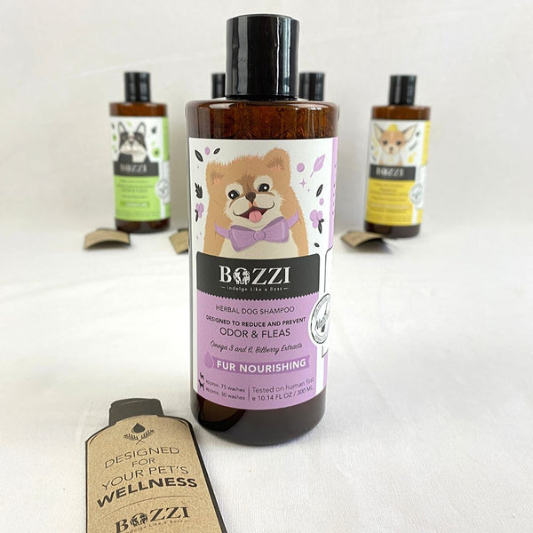BOZZI Odor and Fleas Fur Nourishing Shampoo 300ml Grooming Shampoo and Conditioner Bozzi
