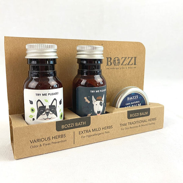 BOZZI Tester Kit Sample Kit Grooming Medicated Care Bozzi