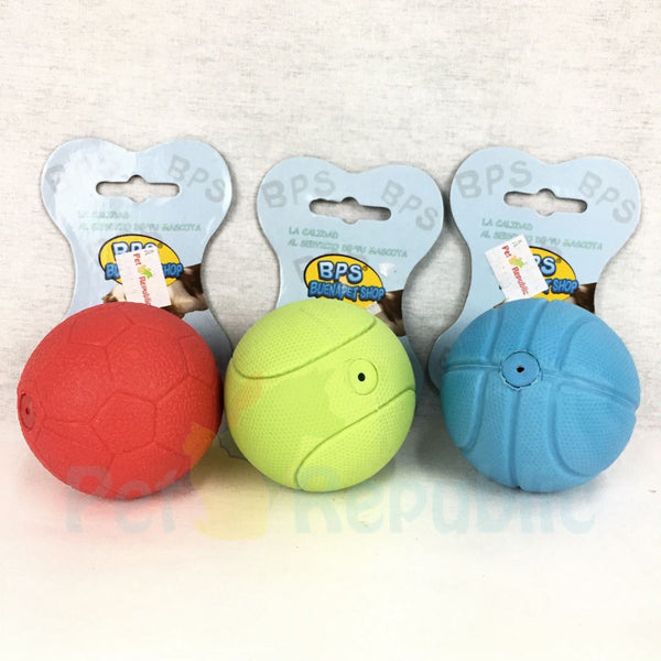 BPS TOY007 Squeaky Rubber Sports Ball 6cm - Pet Republic Jakarta