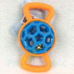 BPS Toy550 Rubber Bone With Ball And Bell 16cm - Pet Republic Jakarta