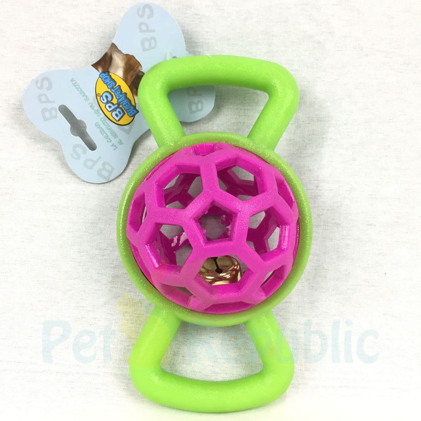 BPS Toy560 Rubber Bone With Ball And Bell 19,5cm - Pet Republic Jakarta