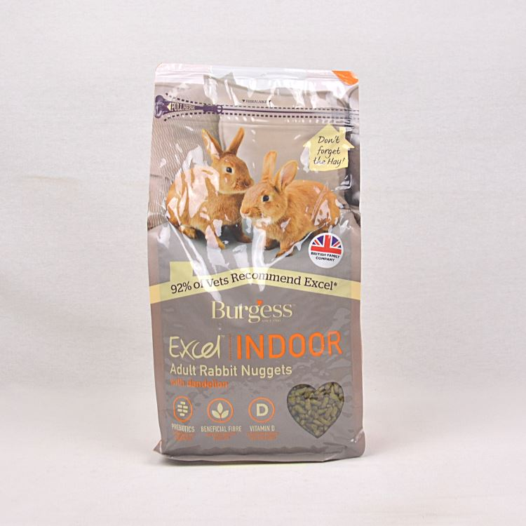 BURGESS Excel Indoor Rabbit 1.5kg Small Animal Food Burgess