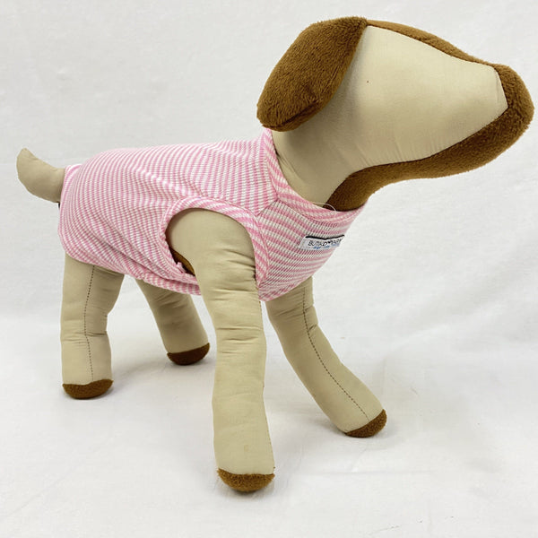 BUTIKDOGGY Pink Striped Muscle Shirt Pet Fashion ButikDoggy