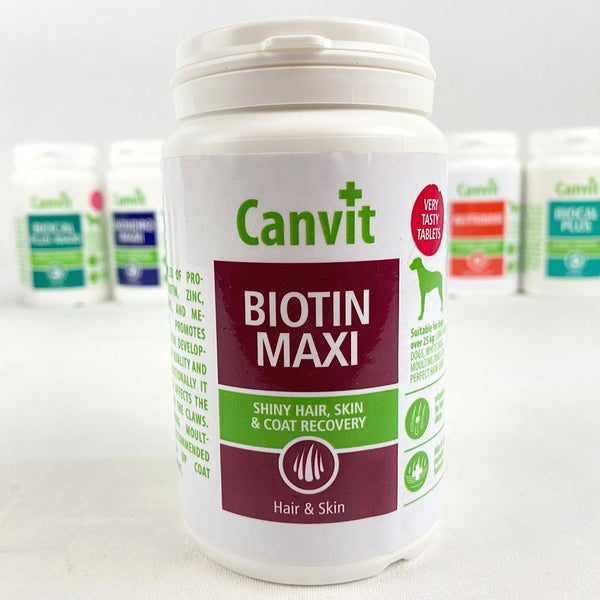 CANVIT Biotin Maxi for dogs 230g Pet Vitamin and Supplement Canvit