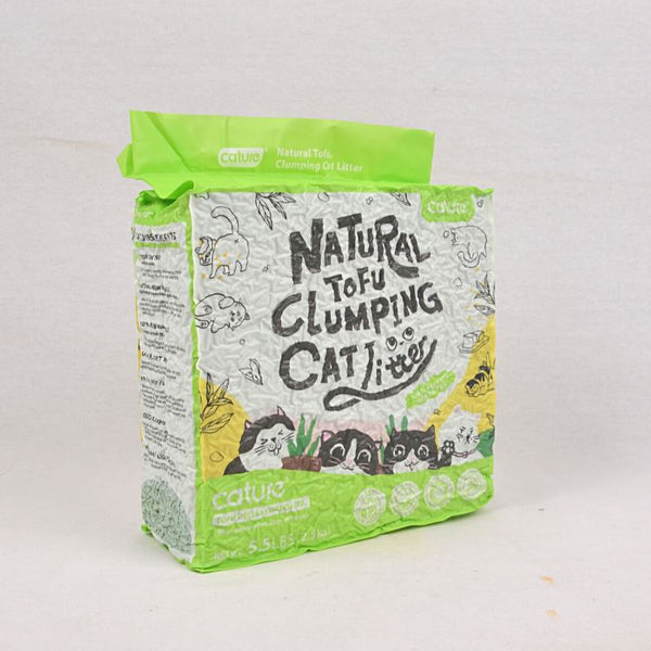 CATURE Natural Tofu Clumping Cat Litter Green Tea Flavour 2,5kg Cat Sanitation Cature