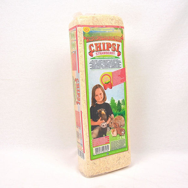 CHIPSI Wood Shaving Strawberry 1kg Small Animal Sanitasi Chipsi